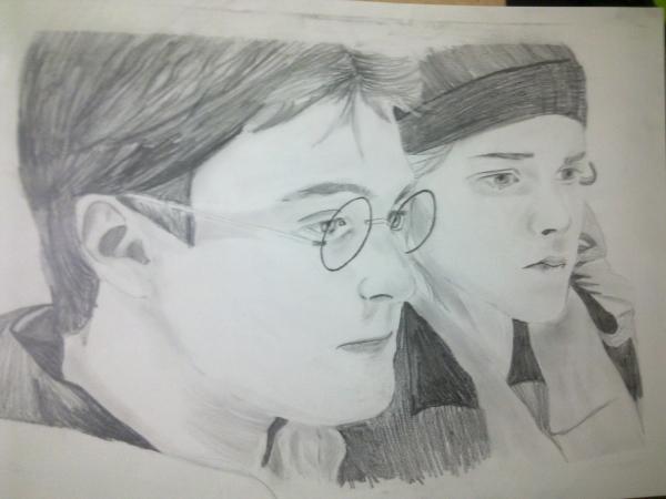 Emma Watson, Daniel Radcliffe by meryemcelik